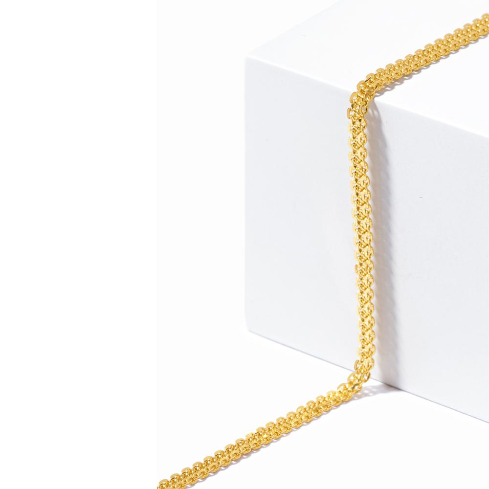 22ct Gold Medium Flat Trace Link Chain CHLK034