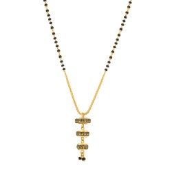 22ct Gold Mangalsutra Single line Drop Pendant YGMG129