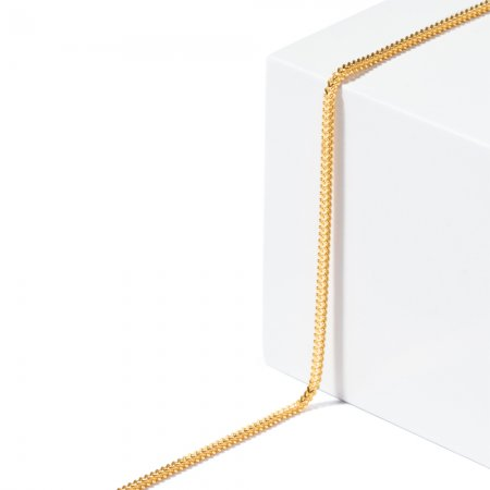 22ct Gold Foxtail Chain 3.7gm 16 Inches