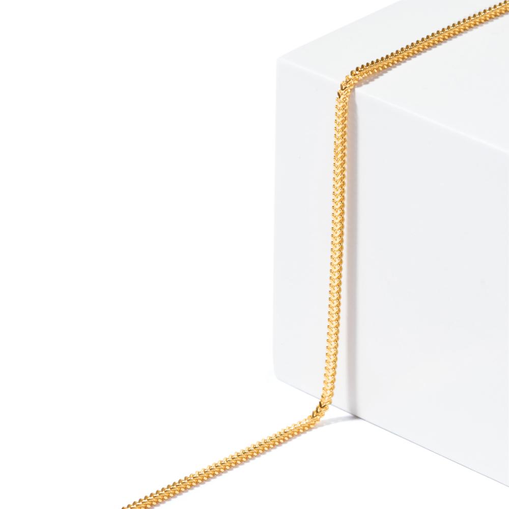 22ct Gold Light Foxtail Chain CHFX036