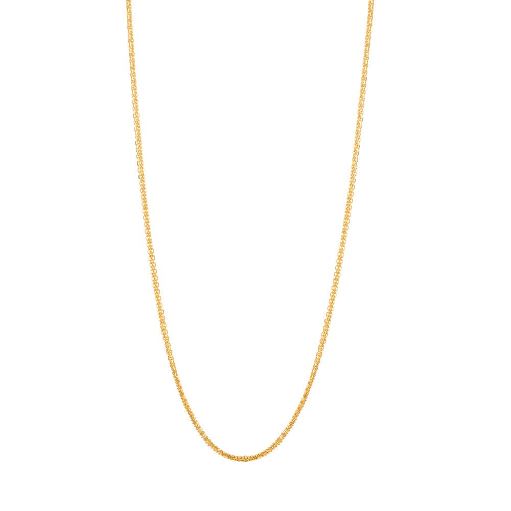 22ct Gold Chain 22 Inches Double Trace Ball Link CHDT008