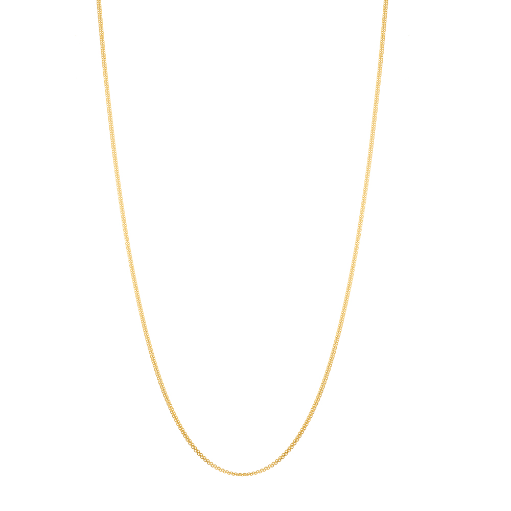 22ct Gold Chain 18 Inches Double Flat Trace Link CHDT013