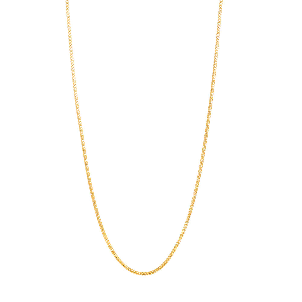 22ct Gold Chain 18 Inches Foxtail CHFX224