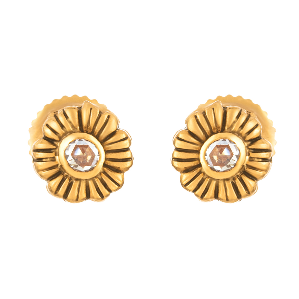 Rosettes Collection 22ct Gold Earring Stud RSER083
