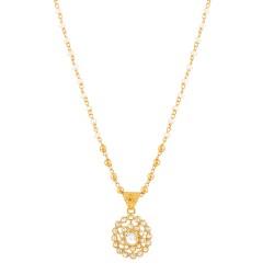 Diya Collection 22ct Gold Pendant 1.8gm Uncut Polki Diamond 0.76ct
