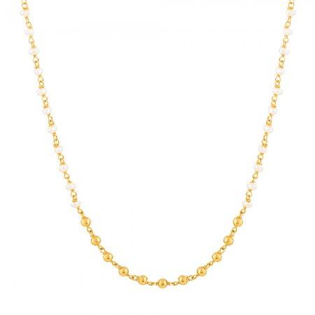 22ct Gold Medium Pearl Chain CHPL262