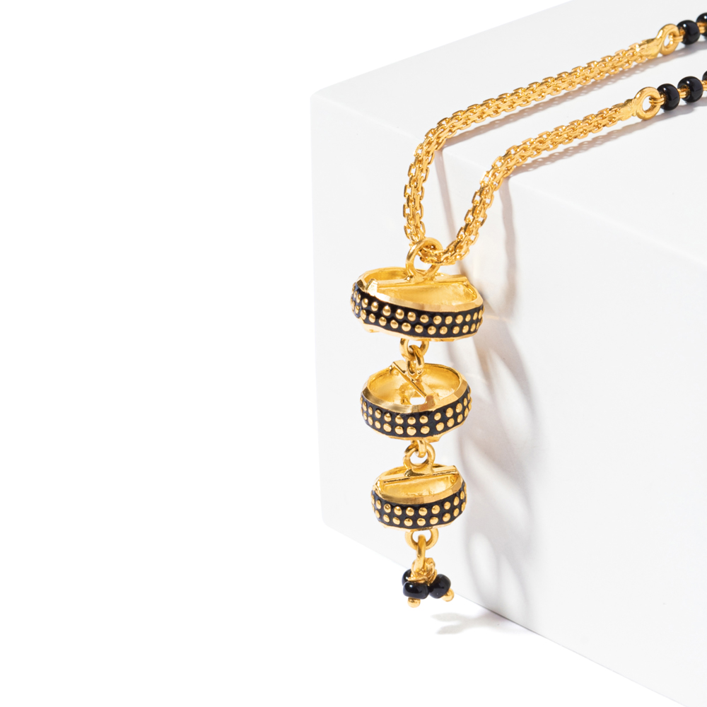 22ct Gold Mangalsutra Single line Drop Pendant YGMG129