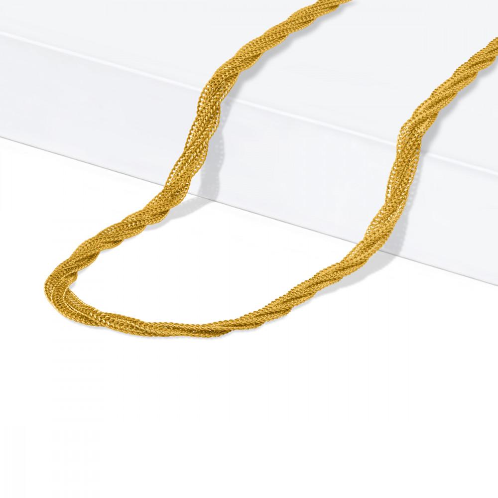 22ct Gold Braid Chain 32074-1