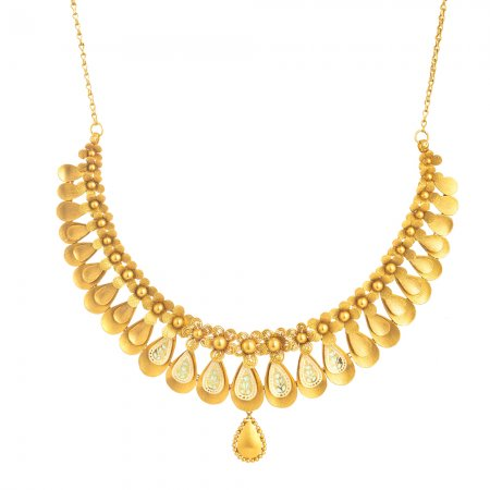Rosettes Collection 22ct Gold Necklace 52.3gm