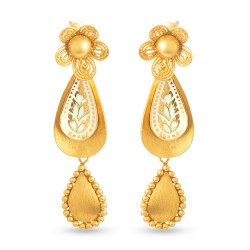 Rosettes Collection 22ct Gold Earring 8.8gm