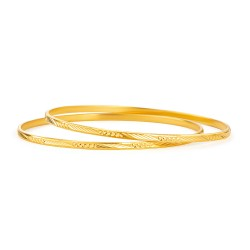 22ct Gold Bangle Daily Wear YGBG112