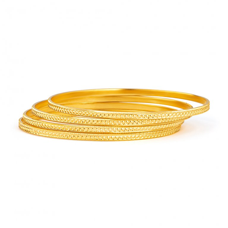 22ct Gold Daily Wear Bangle YGBG113