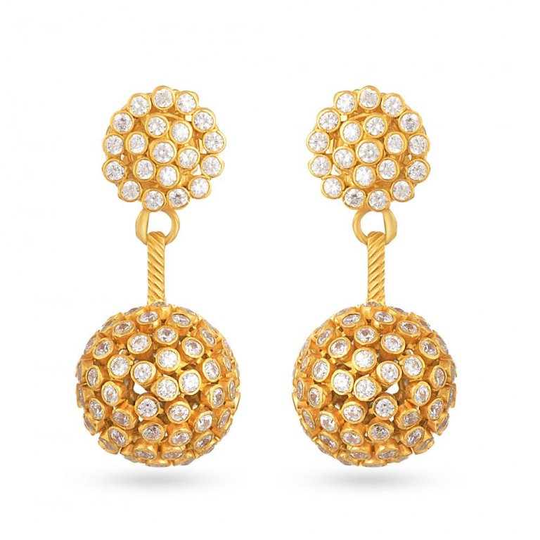 22ct Gold Earring 12.6gm