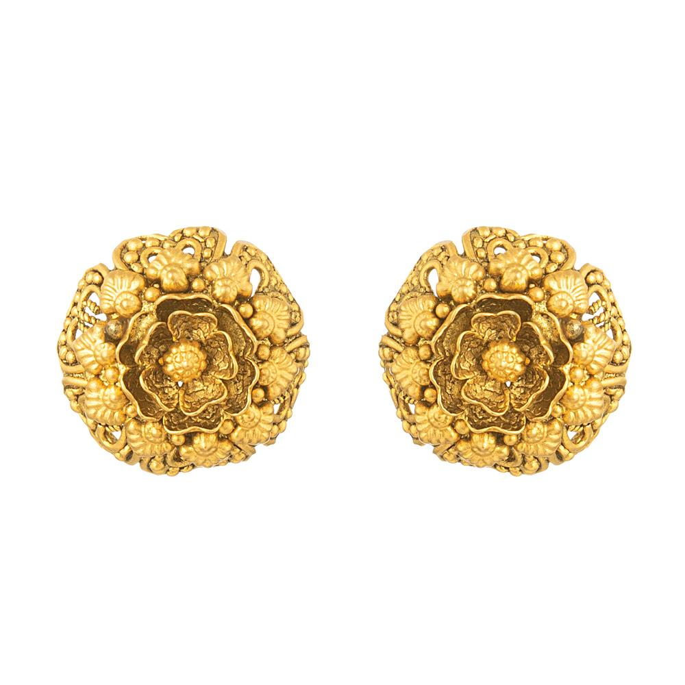 Rosettes Collection 22ct Gold Earring Stud RSER030