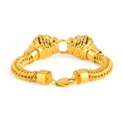 22ct Gold Medium Lion Gents Bracelet YGGB046
