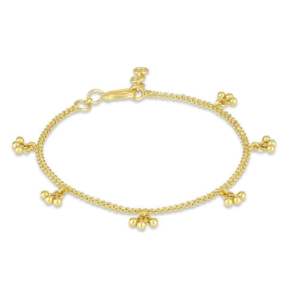 22ct Gold Medium Patta with Ghoonghru Ladies Bracelet YGBR014