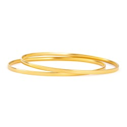 22ct Gold Daily Wear Bangle YGBG115