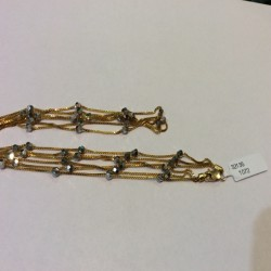 22ct Gold Triple Chain with Mania Choker YGCK056