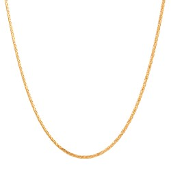 22ct Gold Chain 16 Inches Spiga CHSP111