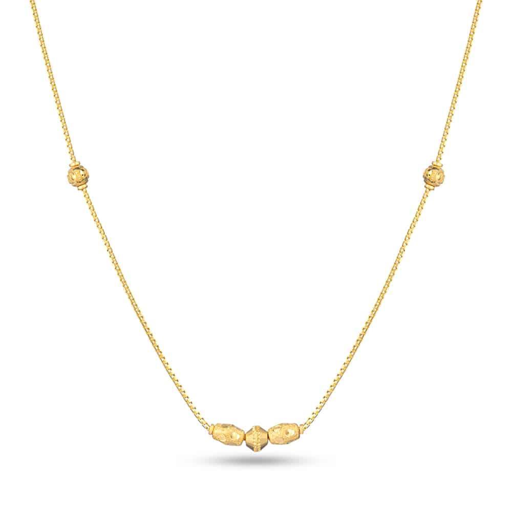 22ct Gold Light Flat with Diamond cut balls Choker YGCK018