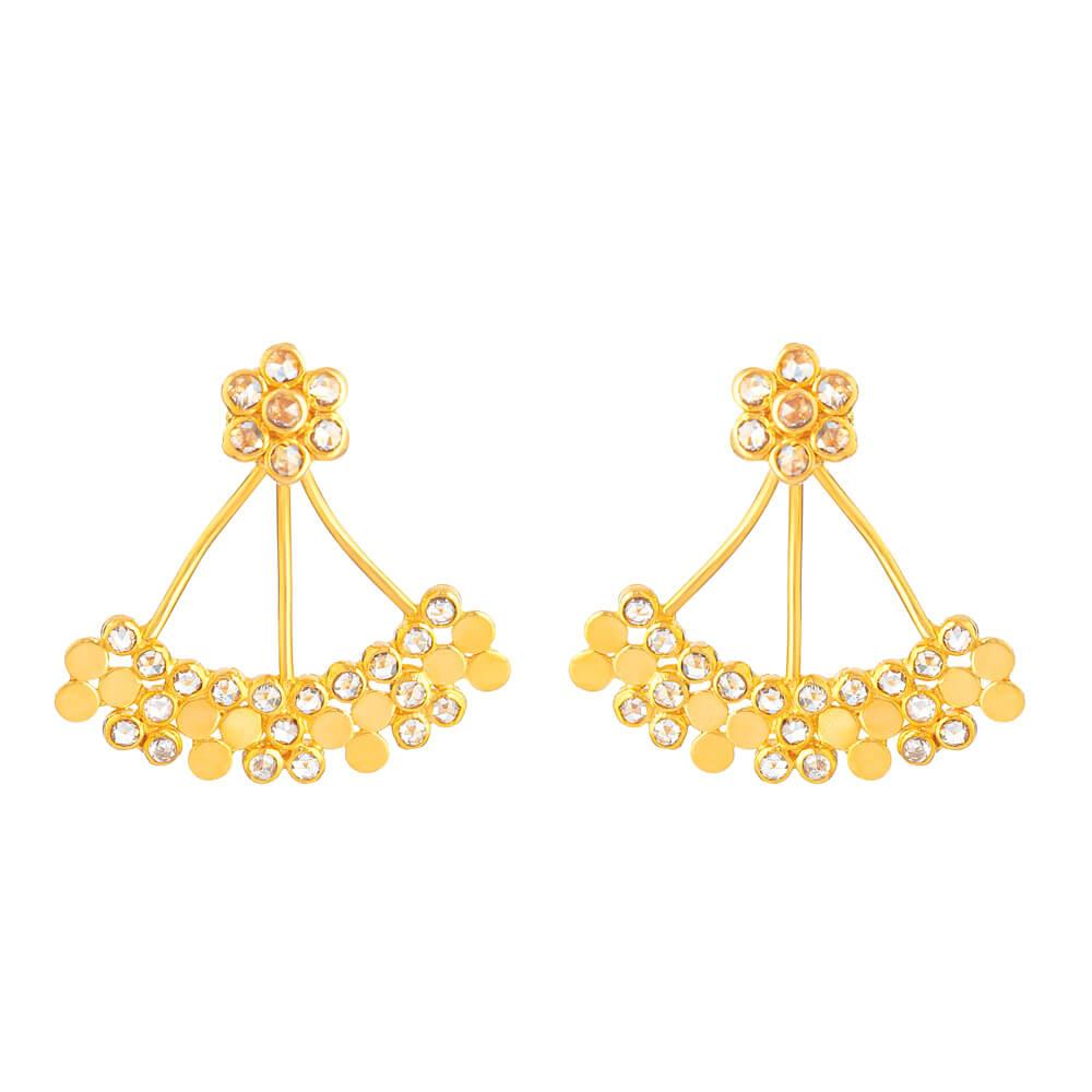 22ct Gold Earring With Uncut Polki DiamondsUncut Polki Diamond wt. 1.28 CaratsWeight of the Earring in 22ct gold is 7.6 gSKU. 32660All prices include VATAll our products are hallmarked by London Assay OfficeComes With Presentation BoxDelivery IncludedLive chat with us for availability and more images of similar designs currently in stock