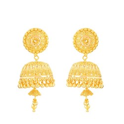 22ct Gold Indian Bridal EarringMade in 22ct Yellow GoldWt: 16.3  gmsSKU.  32360All prices include VATAll our products are hallmarked by London Assay OfficeAll set comes with presentation boxDelivery IncludedLive chat with us for availability and more images of designer Wedding earrings currently in stock