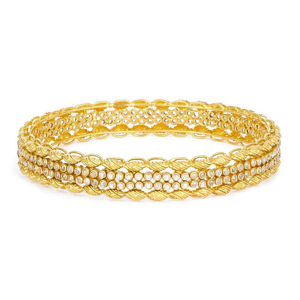 Armari Collection 22ct Gold Polki Kada Pair Available ARKD057