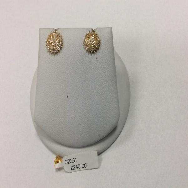 22ct Gold Light Stud Earring YGER058