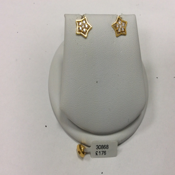 22ct Gold Earring 2.3gm