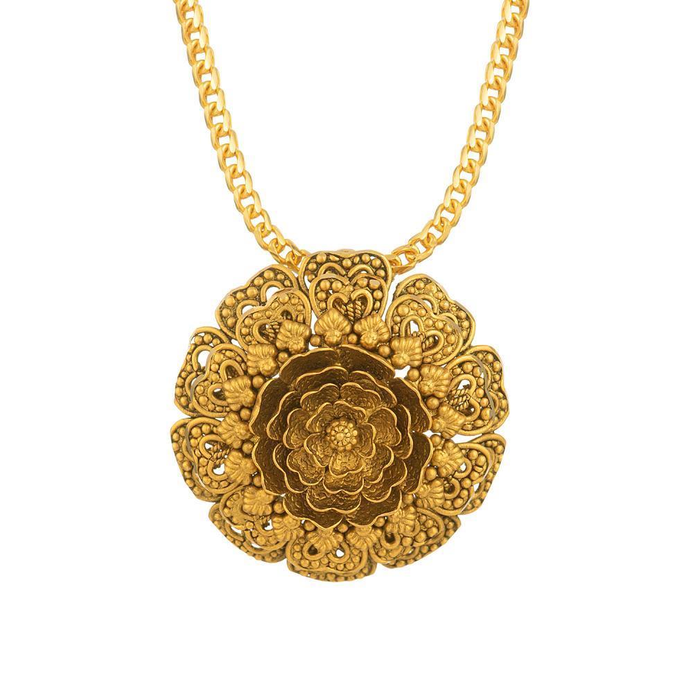Rosettes Collection 22ct Gold Pendant Heavy Pendant RSPN003