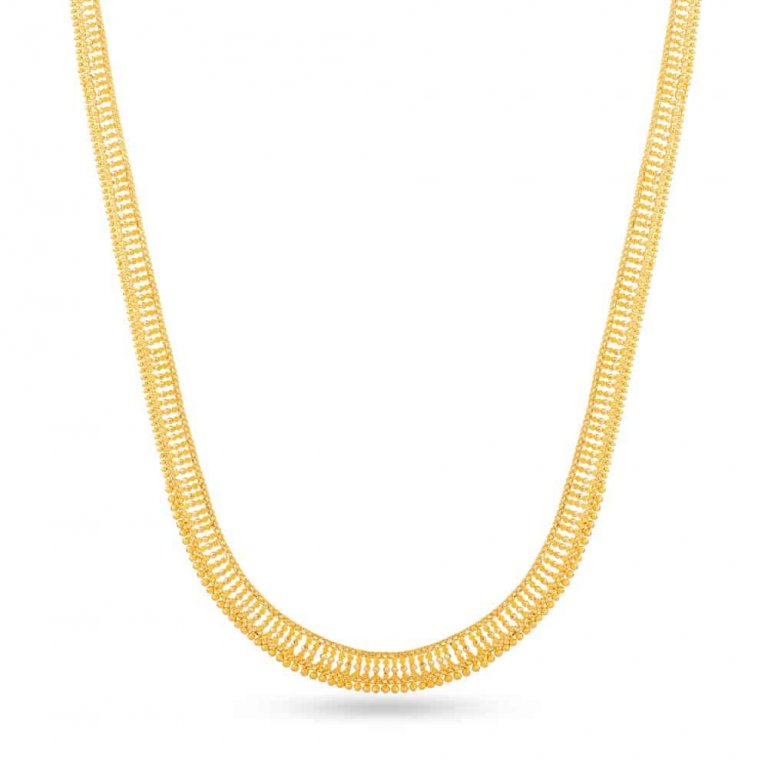 Jali 22ct Medium Jali Patta Necklace JLNC011