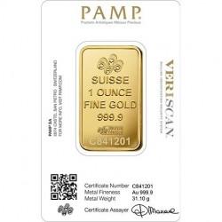 1 Ounce Pamp Swiss Made Fine Gold Bar