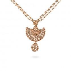 Diya 22ct Polki Light Chain/Mala with a Drop Pendant Necklace DYNC045