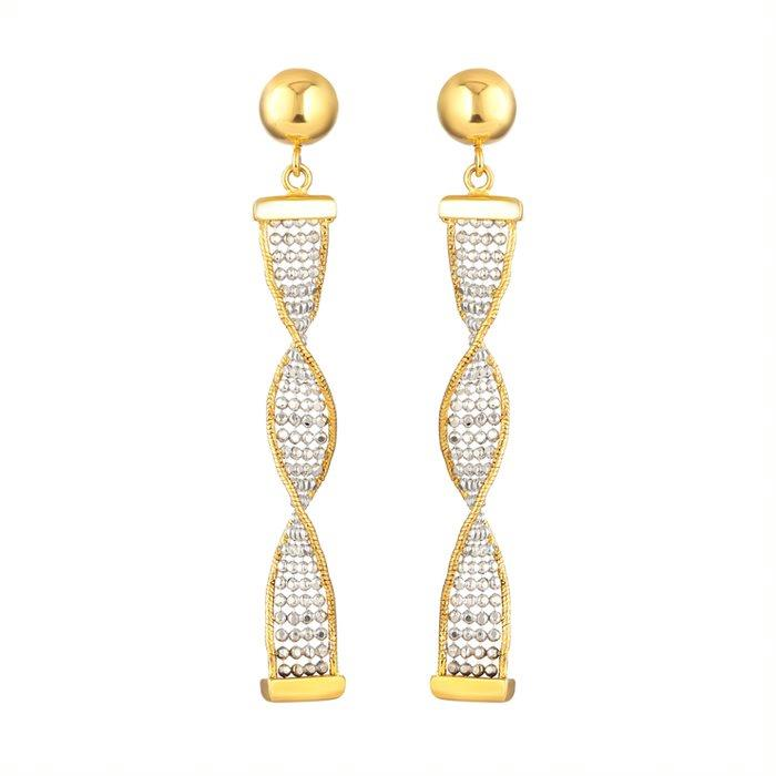 22ct Gold With CZ Stone Earring Flat YGER229