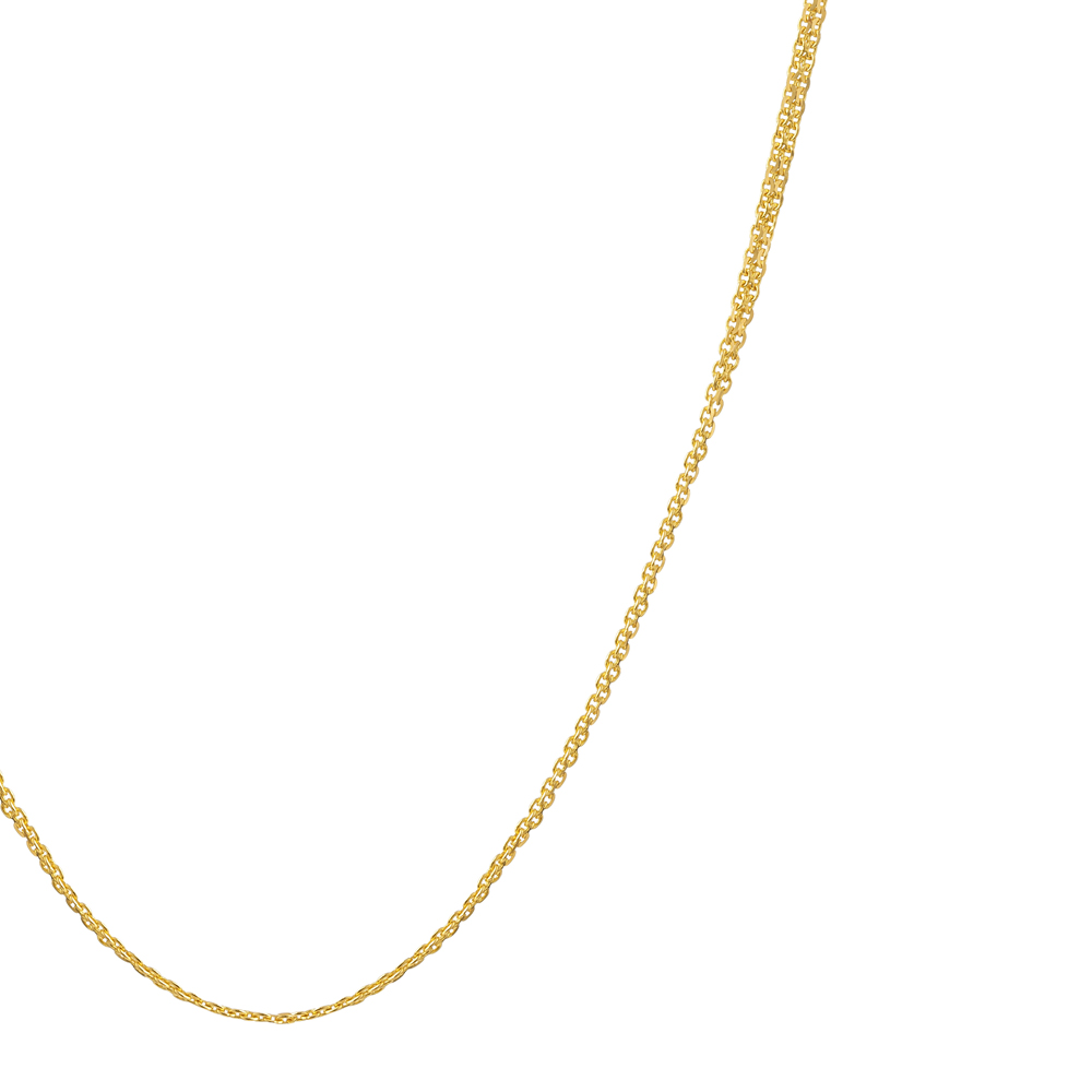 22ct Gold Light Double Trace Link Chain CHDT012