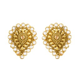 22ct Gold Earring Stud ARER087