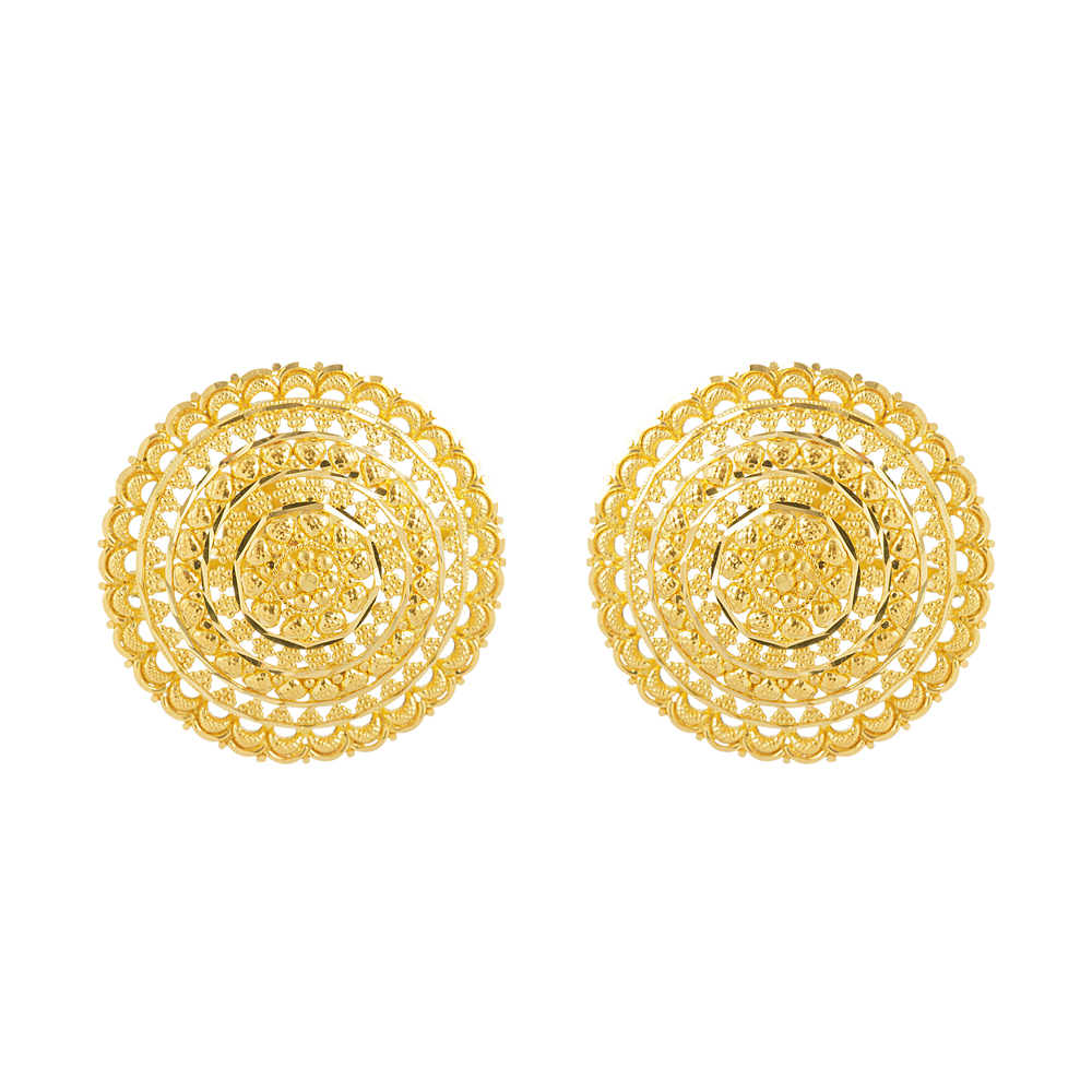 22ct Gold Stud Earring YGER279