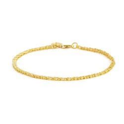 22ct Gold Light Flat Patta Ladies Bracelet YGBR006