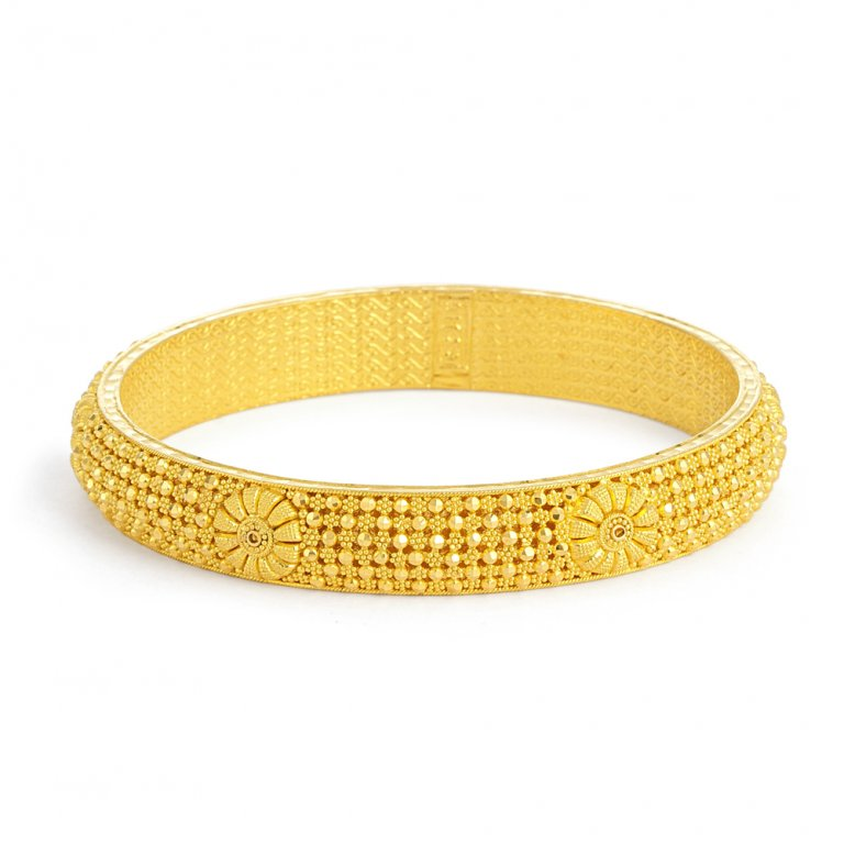 Jali Collection 22ct Gold Kada 23gm