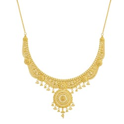 Jali Collection 22ct Gold Necklace 42.1gm