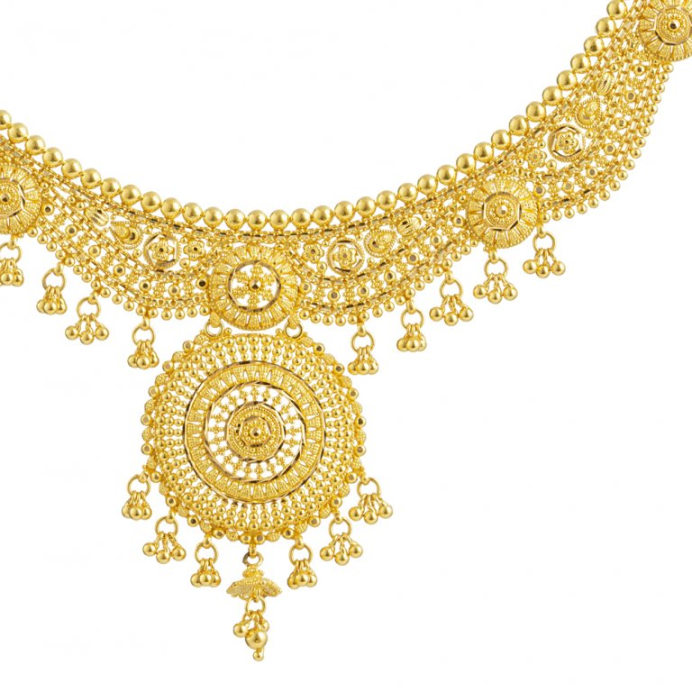 22ct Jali Necklace