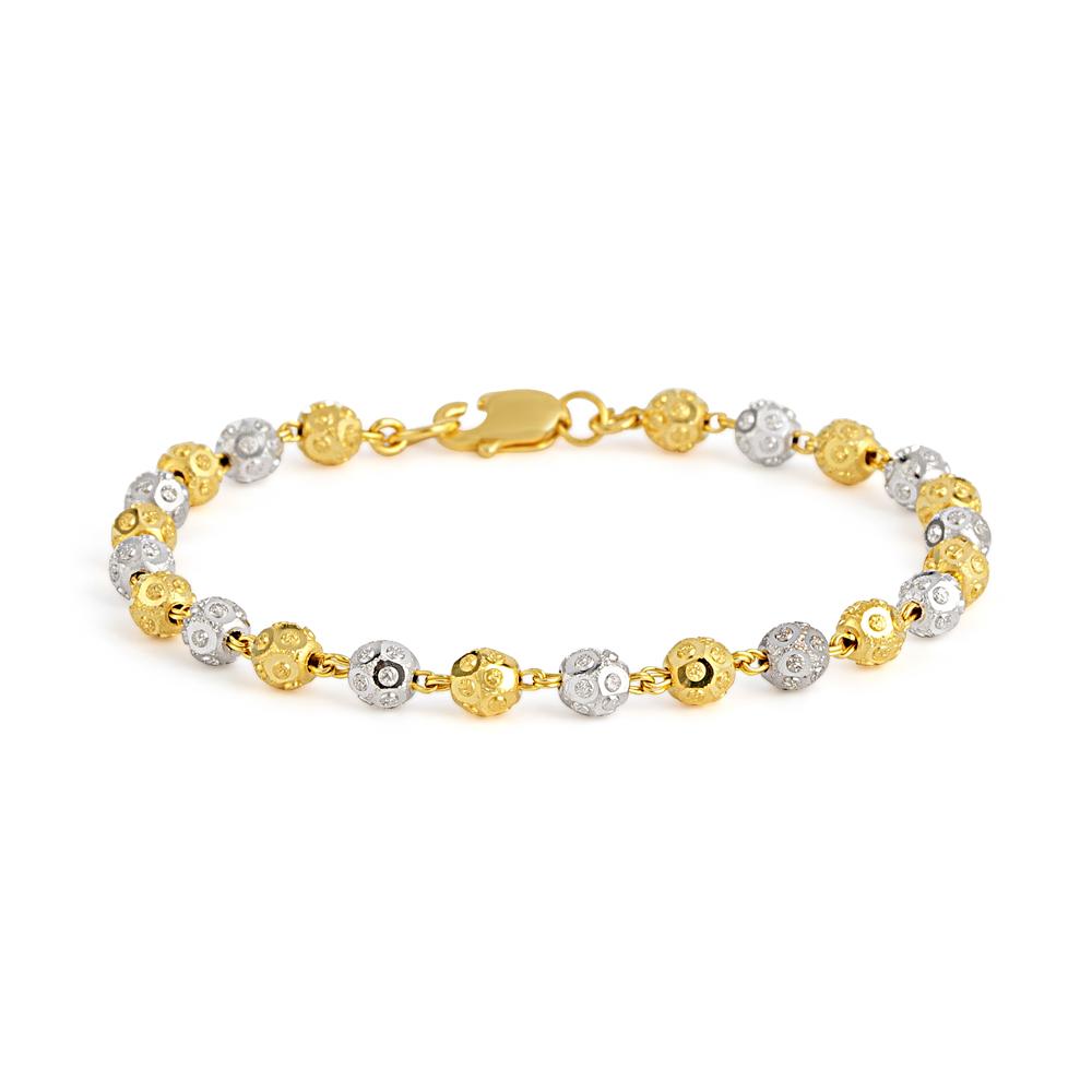 22ct Gold Ladies Bracelet Ball YGBR152