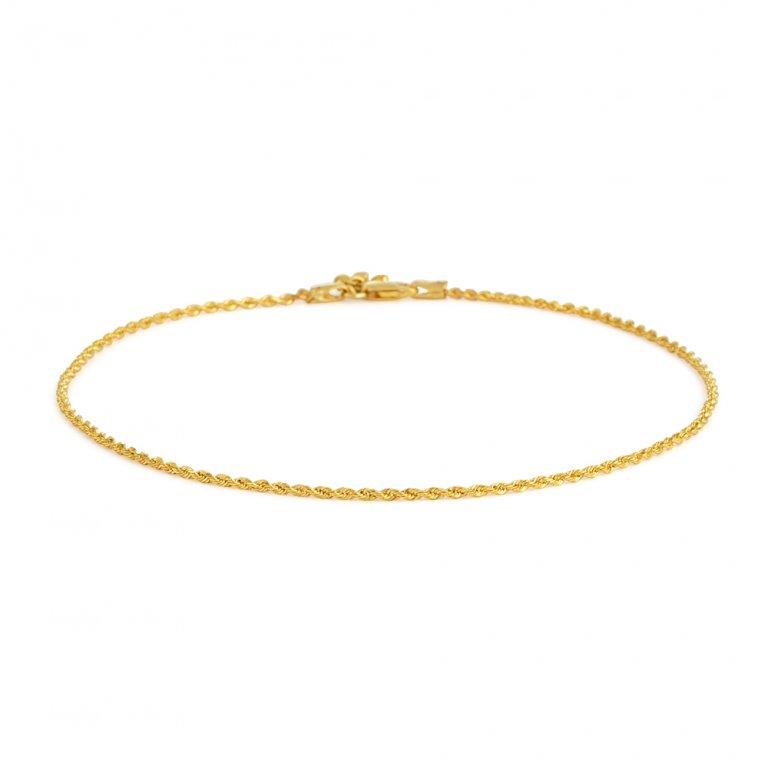 22ct Gold Anklet 4.4gm
