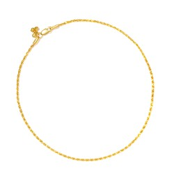 22ct Gold Anklet YGAK004