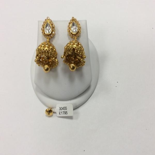 Armari 22ct Polki Medium Jumkha Earring ARER028