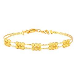 22ct Gold Ladies Bracelet Wired Ball YGBR100
