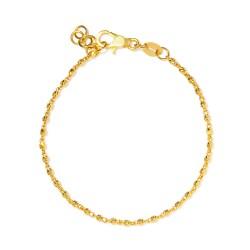 22ct Gold Light Ladies Bracelet YGBR149