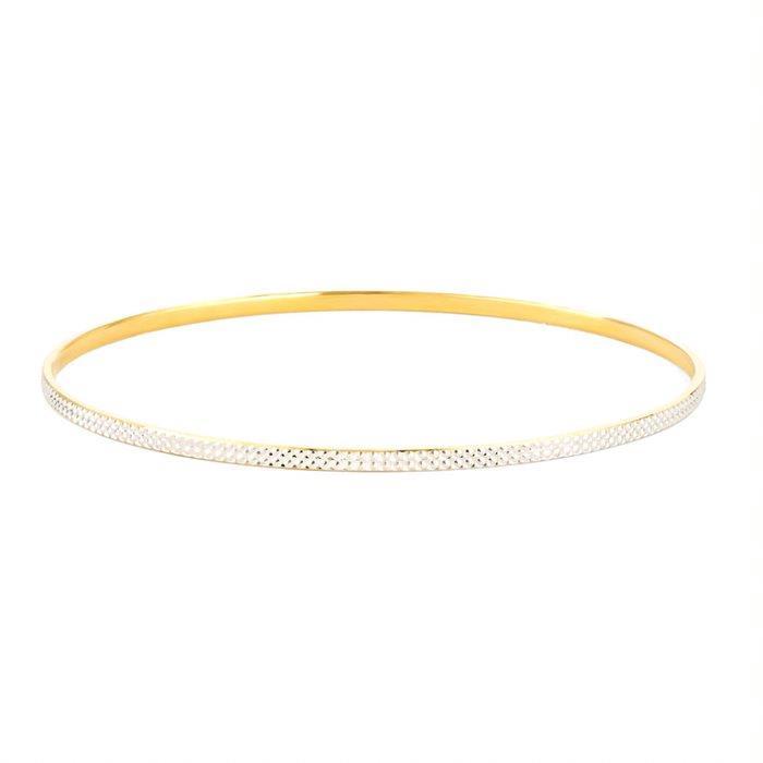 22ct Gold Bangle Plain Daily Wear YGBG106