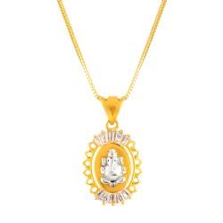 22ct Gold Pendant Ganesh YGPN149