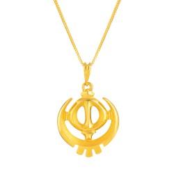 22ct Gold Pendant Khanda YGPN245